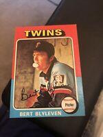 1975 Topps Bert Blyleven Minnesota Twins #30 Baseball Card