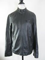 INC International Concepts Womens Black Leather Moto Jacket M