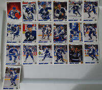 1991-92 Upper Deck UD Toronto Maple Leafs Team Set of 19 Hockey Cards