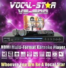 Vocal-Star VS-600 CDG DVD HDMI Karaoke Machine Player 2 Microphones 150 Songs XD