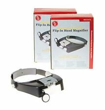 Illuminated Dual Lens Flip-in Head Magnifier Magnify from 1.9x to 8.3x Pack of 2