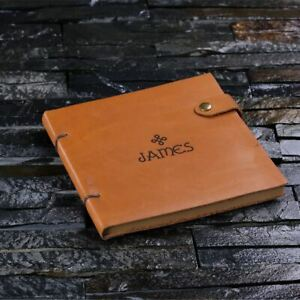 Personalised Engraved Full-Grain Leather Journal Diary - Creative Writing Gift