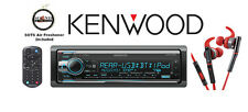 Kenwood eXcelon KDC-X501 CD Bluetooth Receiver KH-SR800R Red In-Ear Headphones