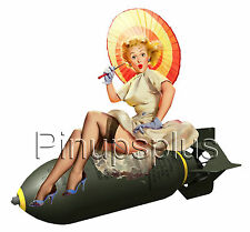 Pin-Up Pinup girl Waterslide Decal Sticker Bomber Art Nose Art Old School S158