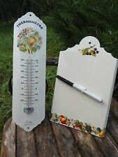 MEMO  AIDE MEMOIRE+ THERMOMETRE EMAILLES BAIES EMAIL