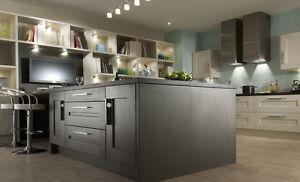 Clonmel Oak Painted Kitchen, Contemporary Shaker Kitchen, Rigid Built Units