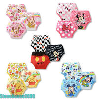 3PCS Kid Baby Infant Toddler Potty Training Pants Diaper Nappy Cartoon Underwear