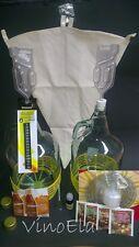 Startset 3 Weinherstellung 5L Weinballon Glasballon Weinheber Filterbeutel Hefe
