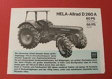 Original alter HELA LANZ ALLRAD D 260 60 PS Traktor Schlepper Prospekt