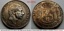 EXCELENTE PIEZA de 50 centavos de Peso Plata. año 1884 MANILA Alfonso XII.