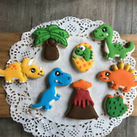 8pcs dinosaur volcano Cutter Sugarcraft Cake Decorating Cookies Pastry Mould ZY