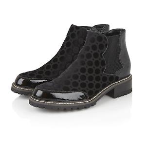 Ruby Shoo Ronni Ladies Black Velvet Ankle Boots