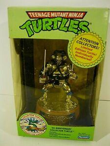 1989 Playmates TMNT 5th Anniversary Turtles LEONARDO STATUE # 5231 MIOB NR