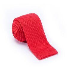 $125 TOMMY HILFIGER Mens KNIT CLASSIC TIE SOLID SILK RED VINTAGE NECKTIE 58X2.25