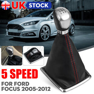 5 Speed Gear Shift Knob Stick / Gaiter Boot Cover For Ford Focus MK2 05-08