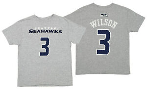 Outerstuff NFL Youth Seattle Seahawks Russell Wilson #3 Mainliner Tee