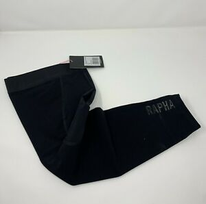 RAPHA Pro Team Shadow Softshell Leg Warmers Black Size Large New