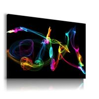 COLORFUL LIGHTS FLASH CANVAS WALL ART PICTURE LARGE AB856  MATAGA