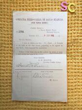 More details for antique compania ferro carril aguas blancas railway chile £2000 deed of transfer