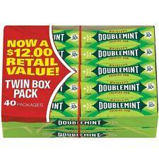 Wrigley's Doublemint Chewing Gum 80 pks Of 5 Fresh 400 Sticks