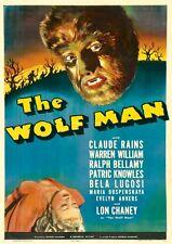 POSTER THE WOLF MAN VINTAGE HORROR FRANKENSTEIN BIG #1