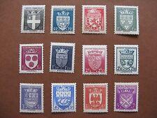 FRANCE neufs n° 553 à 564  ARMOIRIES DE VILLES AVEC SURTAXES (1942)