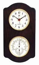 """WEATHER STATIONS - """"CAPE CORAL"""" CLOCK & THERMOMETER / HYGROMETER ON ASH BASE"""