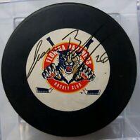 JESSE BELANGER RARE SIGNED VINTAGE FLORIDA PANTHERS NHL TRENCH MFG. PUCK NO COA