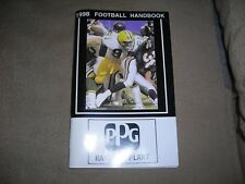 1998 Football Handbook, put out by PPG Industries, NFL and college schedules and