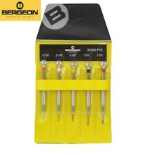 Bergeon 30080-p05 Set of 5 Professional Watchmakers Screwdrivers Old# 2868