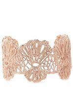 Stella & Dot Geneve Rose Gold Plated Lace Cuff NEW in box $79