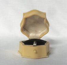 Rare Ring Box Velvet French Ivory Celluloid VTG Antique Victorian