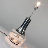Doria Spiral Glas Alu Trompeten Boden Leuchte 60er 70er Jahre alte Lampe vintage