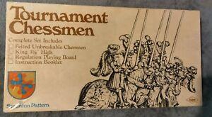 1968 E S Lowe Tournament Chessmen Staunton Pattern No. 809