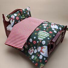 Dollhouse Miniature Green Christmas Bedding Pillow 1/12th Scale Xmas Gift