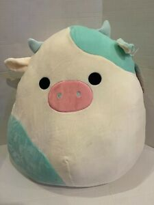 "8"" RARE Kellytoy Squishmallows Belana the cow Soft Doll  plush toy Nwt"