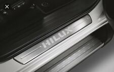 GENUINE SCUFF PLATE STAINLESS COVER FIT TOYOTA HILUX REVO SR5 M70 M80 4DR 2016