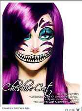 Xotic Eyes Cheshire Cat Costume Glitter Theatrical Make Up Face Tattoo Applique