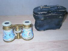 Vintage LeMaire OPERA glasses cloisonne Enameled beautiful to restore read text