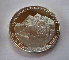 Rare! BU Proof Silver Lion/Pyramid/Scarab Beetle/Egypt .999 - Medal/Coin/Bullion