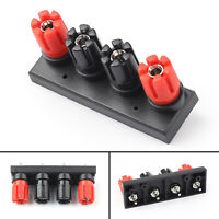 4 Way Female Banana Plug Terminal Binding Post for Speaker Amplifier USA