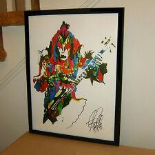 Gene Simmons, Kiss, Singer, Bass Guitar Player, Hard Rock, 18x24 POSTER w/COA
