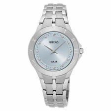 Seiko Women's Blue Dial Stainless Steel Solar Watch SUP307