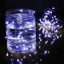 5X2M Cool White Wire Fairy String Lights 40 LED Bulb In/Out Door Wedding/Party