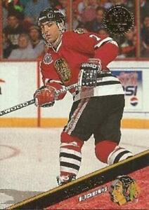 #51 Chris Chelios - Chicago Blackhawks - 1993-94 Leaf Hockey