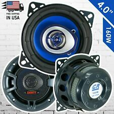 "New Gravity 4"" inch 2-Way 160 Watts Coaxial Car Speakers CEA Rated (Pair)"