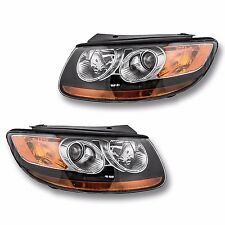 Fits 07-09 Hyundai Santa Fe Driver Passenger Side Headlight Lamp Assembly 1 Pair