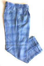 Smokey Joe's Pleated Blue Wide leg Pants (Size: 42L)
