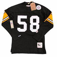 NEW Mitchell Ness Men's Medium Sewn Jack Lambert Pittsburgh Steelers Long Sleeve