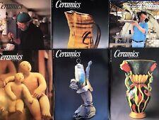 Lot Ceramics Magazine Journal Ceramic Trends Techniques 1998 Lot Of 6